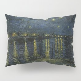 starry night over the rhone vincent van gogh Pillow Sham