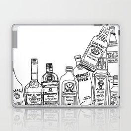 Alcohol Bottles (White) Laptop & iPad Skin