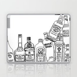 Alcohol Bottles (White) Laptop & iPad Skin