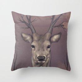 Deer Soul Throw Pillow