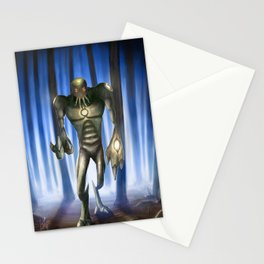 Alien of forest Stationery Cards