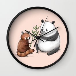 Panda Friends Wall Clock