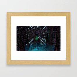 H.R. Giger Tribute - Skull Fountain Framed Art Print