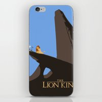 the lion king iPhone & iPod Skins featuring Lion King by TheWonderlander
