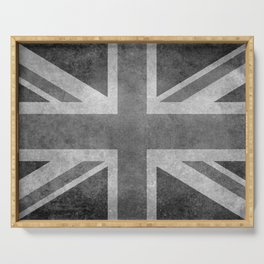 British Union Jack flag 1:2 scale retro grunge Serving Tray