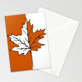 Maple Leaf (orange + white) Stationery Cards