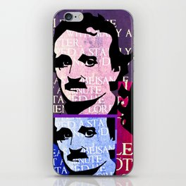 EDGAR ALLEN POE (FUNKY COLOURED 4-UP COLLAGE) iPhone Skin