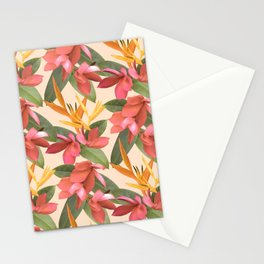 Mixed Paradise Tropicals in Vintage Stationery Cards
