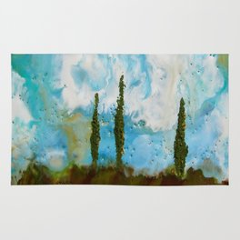 Tuscan Sunset original Encaustic wax painting by Seasons Kaz Sparks Rug