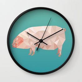 Geometric Pig Wall Clock