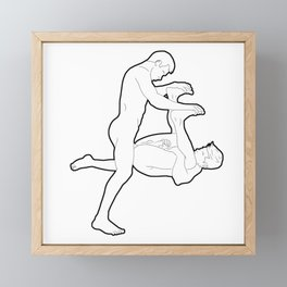 Bent in Half Framed Mini Art Print