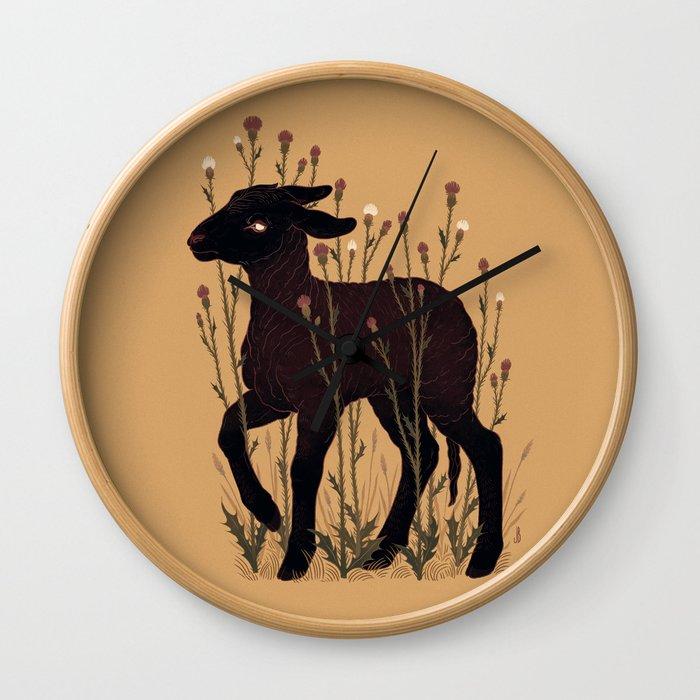 Black Lamb Wall Clock