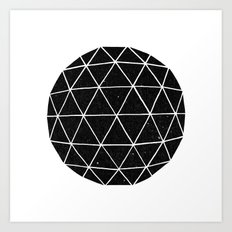 Dark Geodesic Art Print