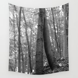 Old love, black and white photography trees Wall Tapestry