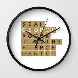 My favorite James Bond is... George Lazenby Wall Clock