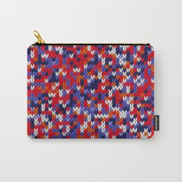 Knitted multicolor pattern 3 Carry-All Pouch