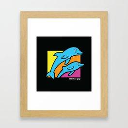 Dolphins. Framed Art Print