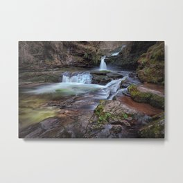 Waterfall country, South Wales Metal Print