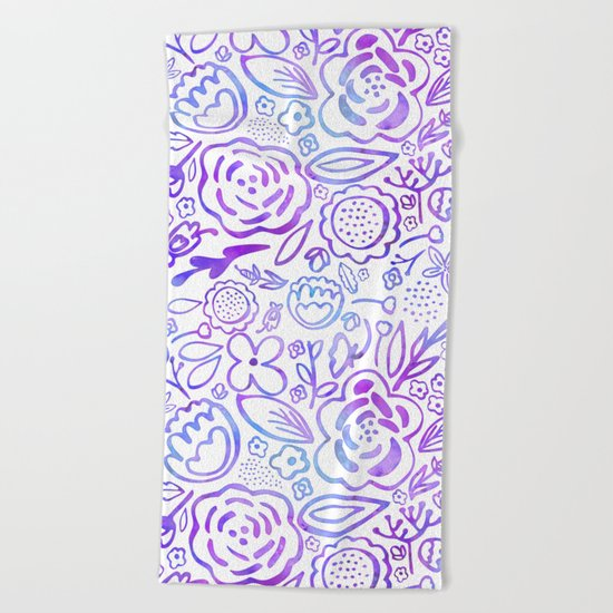 A Profusion of Flowers Beach Towel