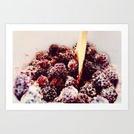 blackberry sweets Art Print