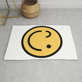 Smiley Face   Squinting Big Smiling Happy Smileys Rug
