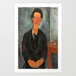 Chaim Soutine by Amedeo Modigliani, 1917 Art Print