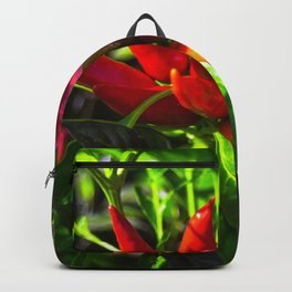 Red and Green Chili Peppers Backpack