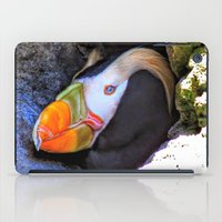 puffin iPad Cases featuring Tufted Puffin by Victoria's View