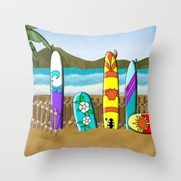 Surf's Up! Throw Pillow