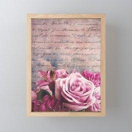 the bouquet Framed Mini Art Print