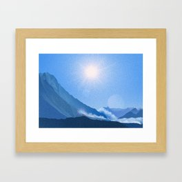 Mountains en route to Tilicho Lake • Nepal Trekking Series Framed Art Print