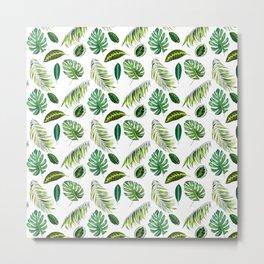 Leaf, Amazonia,Pattern, Jungle, Forest, Tropical, Palm, Tree, Design Metal Print