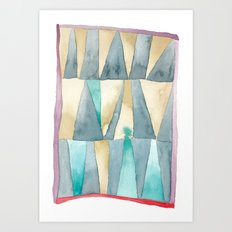 Triangle Quilt Abstract Art Print