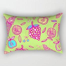 Tropicana on lime green Rectangular Pillow