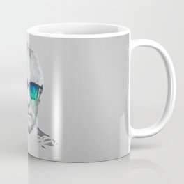Albert Hofmann - Psychedelic Polygon Low Poly Portrait Coffee Mug