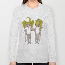 friends with costumes Long Sleeve T-shirt