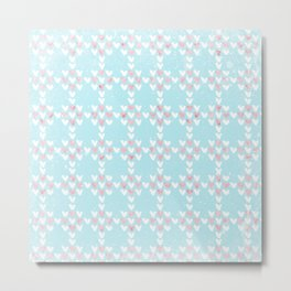 From Hearts Love And Christmas-Cute teal X-Mas Pattern Metal Print