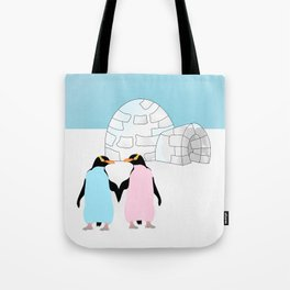 Penguins and Igloo Tote Bag