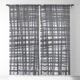 Brushed Check Sheer Curtain