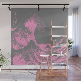 The Great Wave Pink & Gray Wall Mural