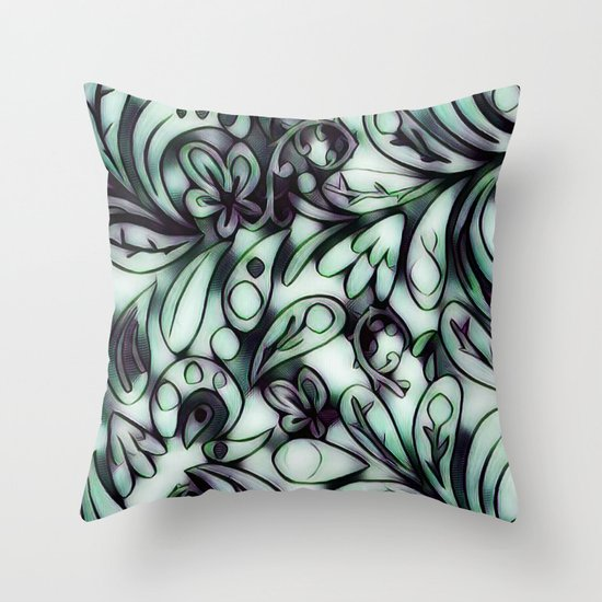 Throw Pillow Doodle : Just a Doodle Throw Pillow by TaLins Society6