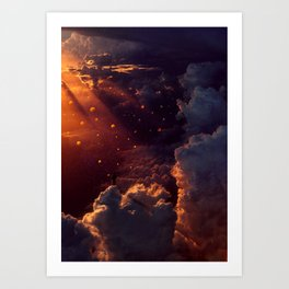 live in the clouds Art Print