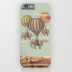 Flight of the Elephants - mint option Slim Case iPhone 6
