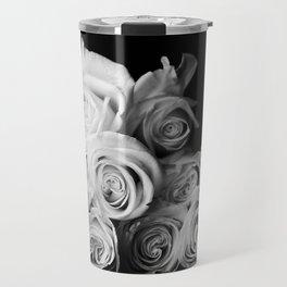 White Roses Travel Mug