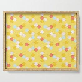 Honeycomb - Sunshine Yellow Serving Tray