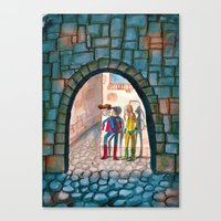 superheroes Canvas Prints featuring Superheroes by SabineVerkoren