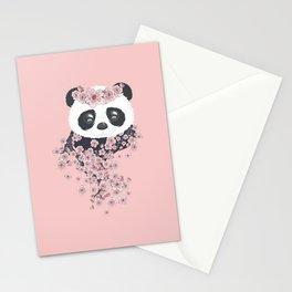Panda face and Sakura Stationery Cards