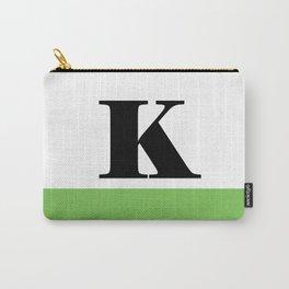 Monogram Letter K (color block) Carry-All Pouch