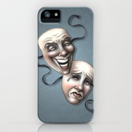 Comedy Tragedy Theater Masks iPhone Case