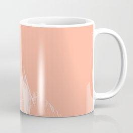 Sweet Life Paint Swipes Peach Coral Pink Coffee Mug